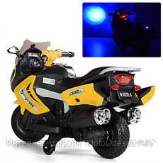 Детский электромотоцикл BAMBI желтый, фото 3