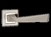 Ручка дверная на розетке Z-1321 SN/CР