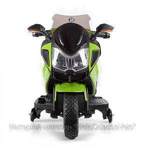 Детский электромотоцикл BAMBI зеленый, фото 2