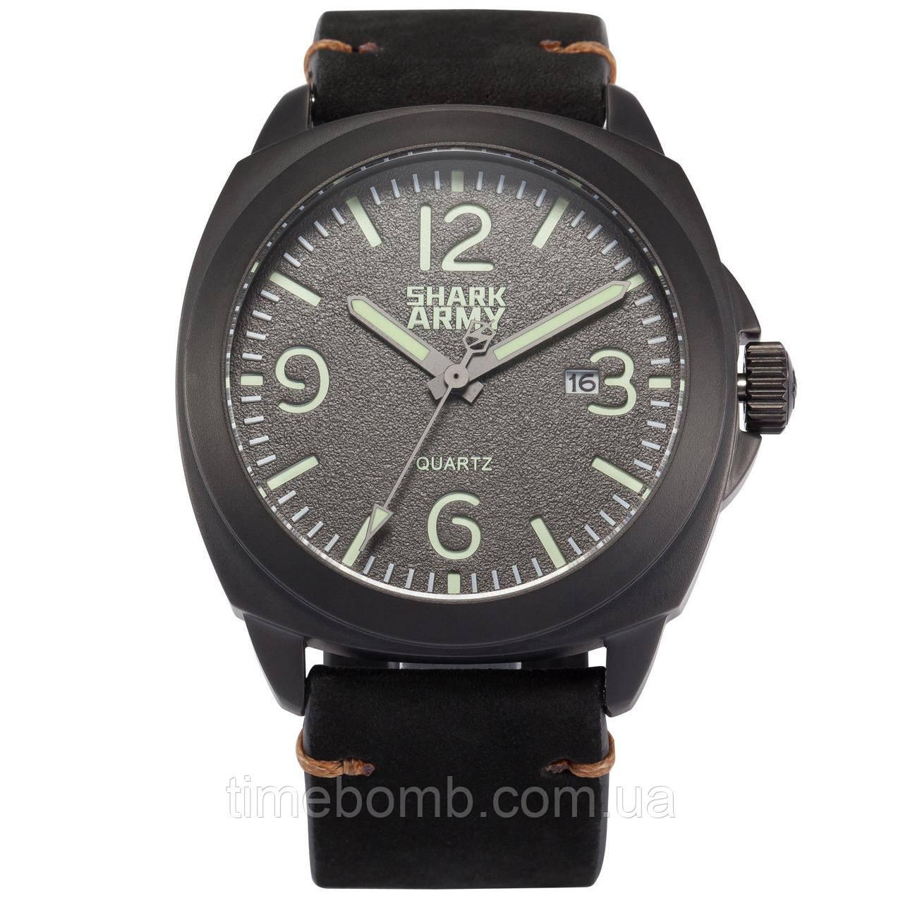 Мужские армейские часы Shark Army Lumin Seal черные
