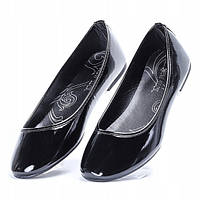 Женские балетки лакированные с овальным носком , фото 1