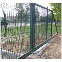 Ворота откатные высота 1.70м ширина 5.0м