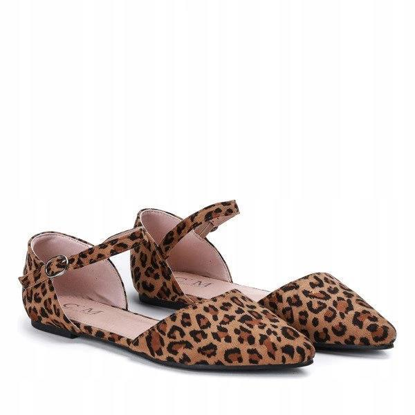 Женские балетки леопард