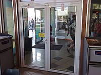 Двери противопожарные алюминиевые остекленные EI 30