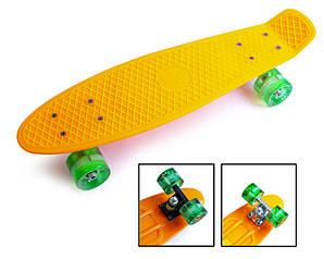 Скейт Penny Boarde Orange Світяться колеса