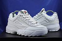 Fila Disruptor(фила дисраптор) белые текстильные кроссовки
