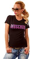 """Стильна футболка """"Moschino"""" черная"""