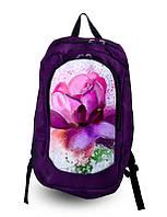 Рюкзак школьный для девочки с принтом Цветок.