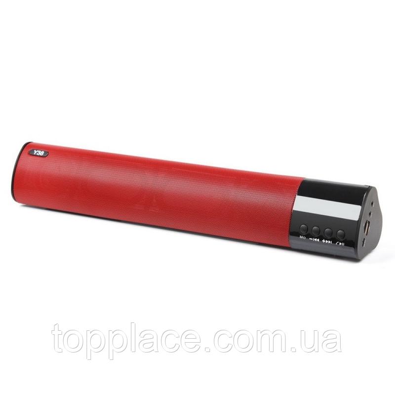 Портативная беспроводная колонка Super Bass Wireless Speaker Y38 Soundbar Красная (G101001131)