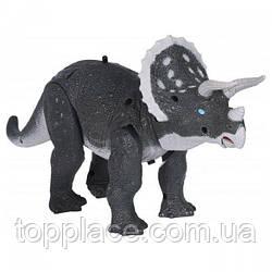 Динозавр на радиоуправлении RS6137B Same Toy Dinosaur Planet Трицератопс Серый (RM101001139)