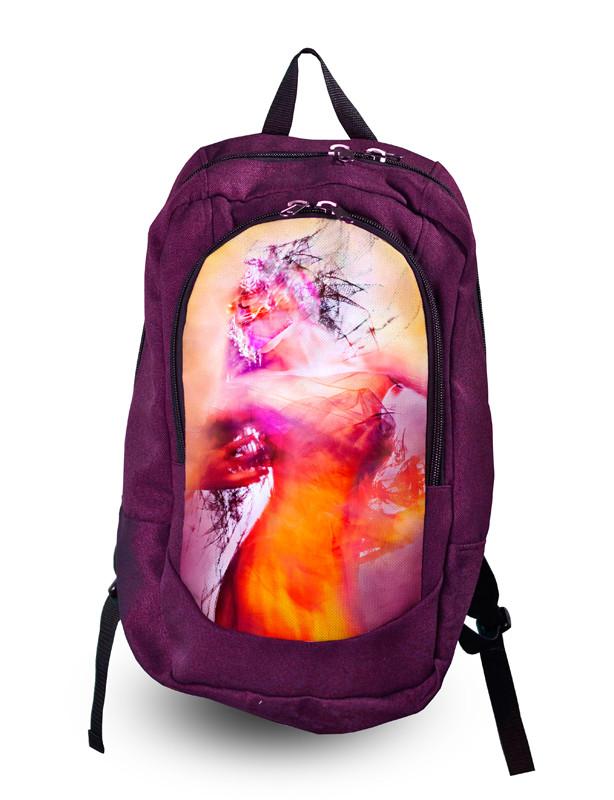 Рюкзак школьный, городской для девушки с принтом.