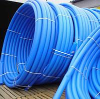 Труба полиэтиленовая пищевая диаметр 25⌀ Синяя