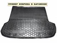 Полиэтиленовый коврик для багажника Nissan Qashqai (Ниссан Кашкай) с 2010-2014 (с докаткой)