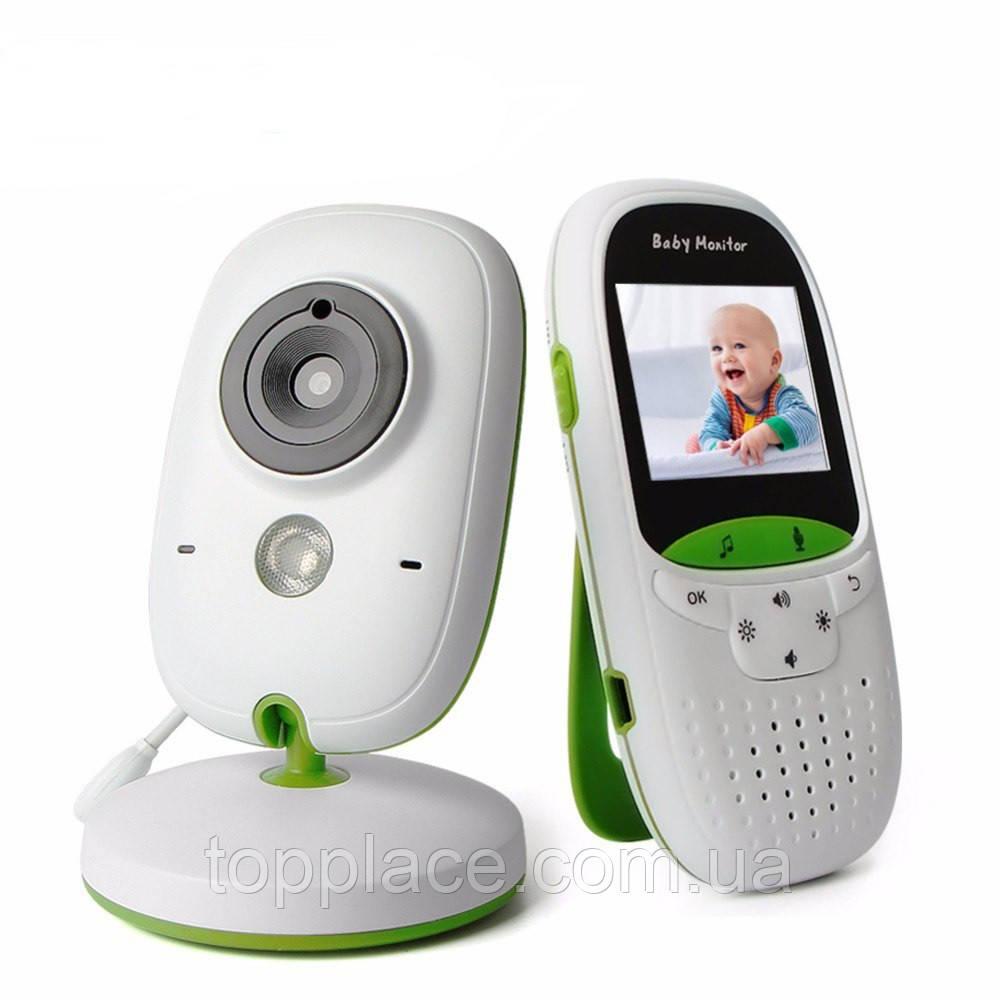 Видеоняня Baby Monitor VB602 с функцией ночного видения и датчиком температуры Бело-зеленый (LS101005359)