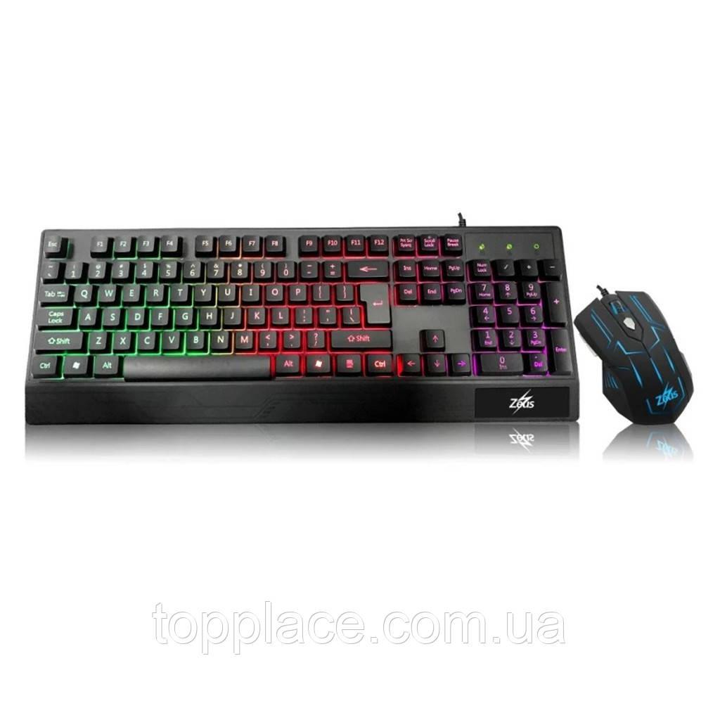 Комплект клавиатуры с мышью Landsides Led Zeus M-710 (G101001174)