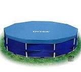 Каркасный круглый бассейн Intex 28332 (549*132 см) с песочным фильтром, фото 4