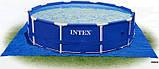 Каркасный круглый бассейн Intex 28332 (549*132 см) с песочным фильтром, фото 5