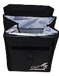 Ланч бег, термосумка - рюкзак. Lunch bag Dolphin з вишивкою My lunch. Чорний, фото 2