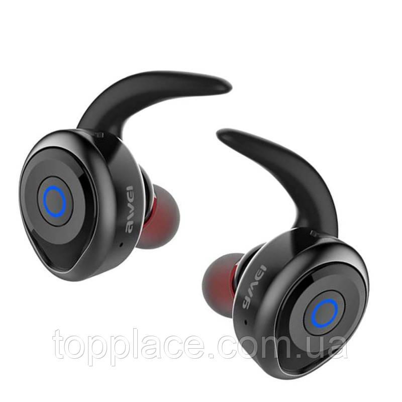 Беспроводные влагонепроницаемые Bluetooth наушники Awei T1, Black (G101001198)