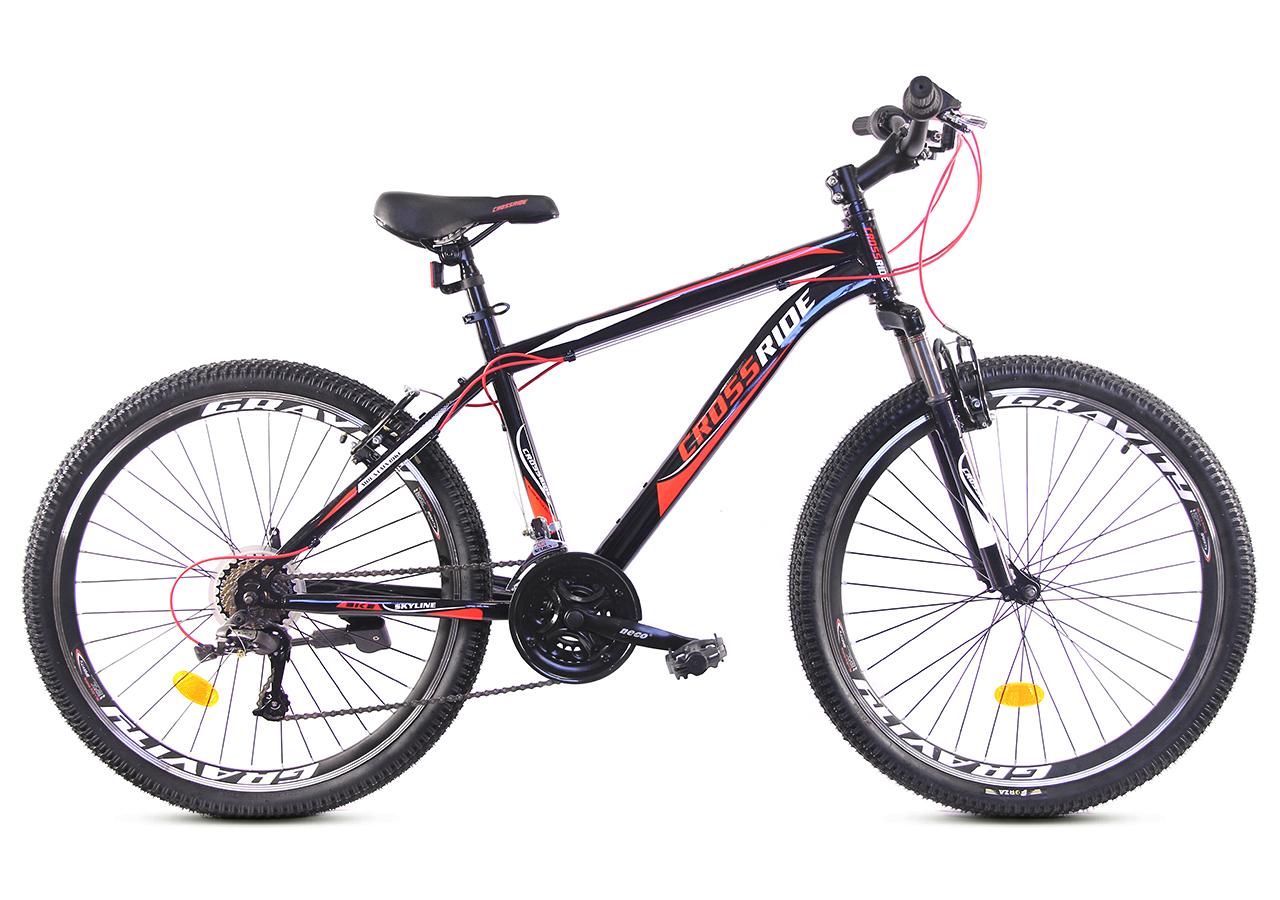 """Горный велосипед CROSSRIDE SKYLINE 26"""" Черный/Красный"""