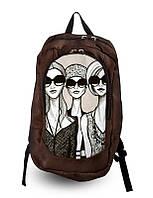 Рюкзак школьный, женский с принтом Девушки.