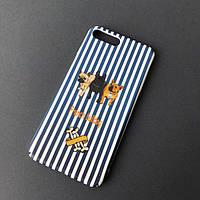 """Чехол """"Собаки в полоску"""" французский бульдог для айфон, фото 1"""