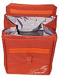 Ланч біг, термосумка - рюкзак Dolphin з вишивкою My lunch. Цегляний, фото 2
