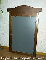 """Дзеркало для спальні в дерев'яній рамці """"Мікель"""", фото 3"""
