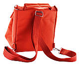 Ланч біг, термосумка - рюкзак Dolphin з вишивкою My lunch. Цегляний, фото 3