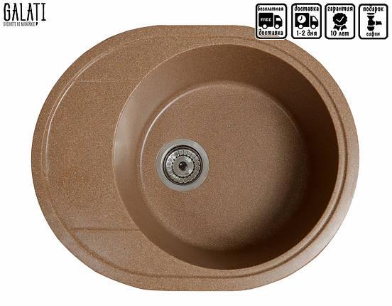 Мойка кухонная коричневая 58*47 см Galati Voce Teracotă (3337), фото 2