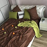 Велюровое покрывало на кроватьALBO 210х230 cm + наволочки50x70 cm (2 шт) Шоколадное (P-C2)