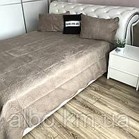 Велюровое покрывало на кровать ALBO 210х230 cm + наволочки 50x70 cm (2 шт) (P-C), фото 2