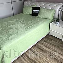 Велюровое покрывало на кровать ALBO 210х230 cm + наволочки 50x70 cm (2 шт) (P-C), фото 5