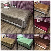 Велюровое покрывало на кроватьALBO 220х240 см + наволочки50x70 см (2 шт) (P-C)
