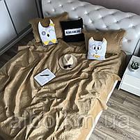 Велюровое покрывало на кровать ALBO 210х230 cm + наволочки 50x70 cm (2 шт) (P-C), фото 7
