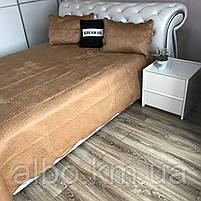 Велюровое покрывало на кровать ALBO 210х230 cm + наволочки 50x70 cm (2 шт) (P-C), фото 6
