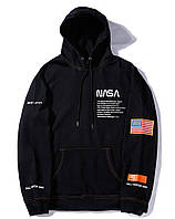 ✔️ Черный худи NASA x Heron Preston