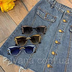 Женские очки от солнца с градиентными линзами в расцветках. Д-23-0419