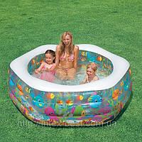 Детский надувной бассейн Intex 56493 (193х178х61 см.)