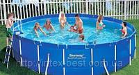 Каркасный бассейн BestWay 56414 (366х122 см) с песочным фильтром 4500 л/час