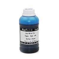 Водные чернила Ocbestjet для плоттеров Canon imagePROGRAF iPF6xx/7xx/8xx, Cyan, 250 мл