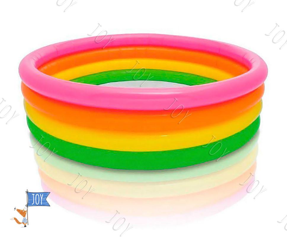 """Intex Бассейн 56441 NP """"Радуга"""" (6) 4 кольца, размером 168-45см, объём: 780л при наполнении 80%, от 3 лет"""