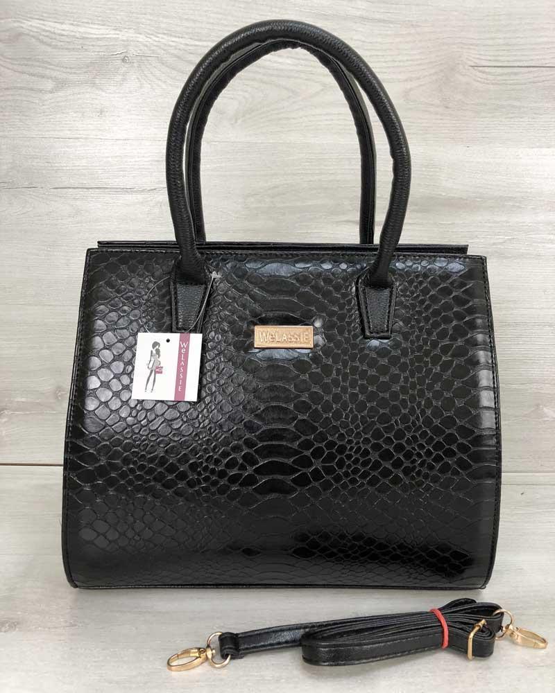 9b1cc5d28b1e Женская сумка Бочонок черная кобра, цена 470 грн., купить в Днепре ...