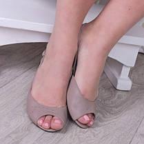 Босоножки кожаные на тонкой подошве каблук 1см белые от 33 до 41 размера, фото 2