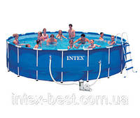 Каркасный бассейн Intex 28252 (54952) Metal Frame Pool (549х122 см) c картриджным насосом