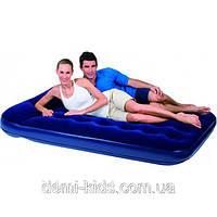 Двуспальный надувной матрас Bestway 67227 (203х185x22 см.) со встроенным насосом
