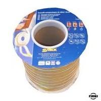 Уплотнитель резиновый Sanok D-тип (коричневый) 9*7,5мм 100м.