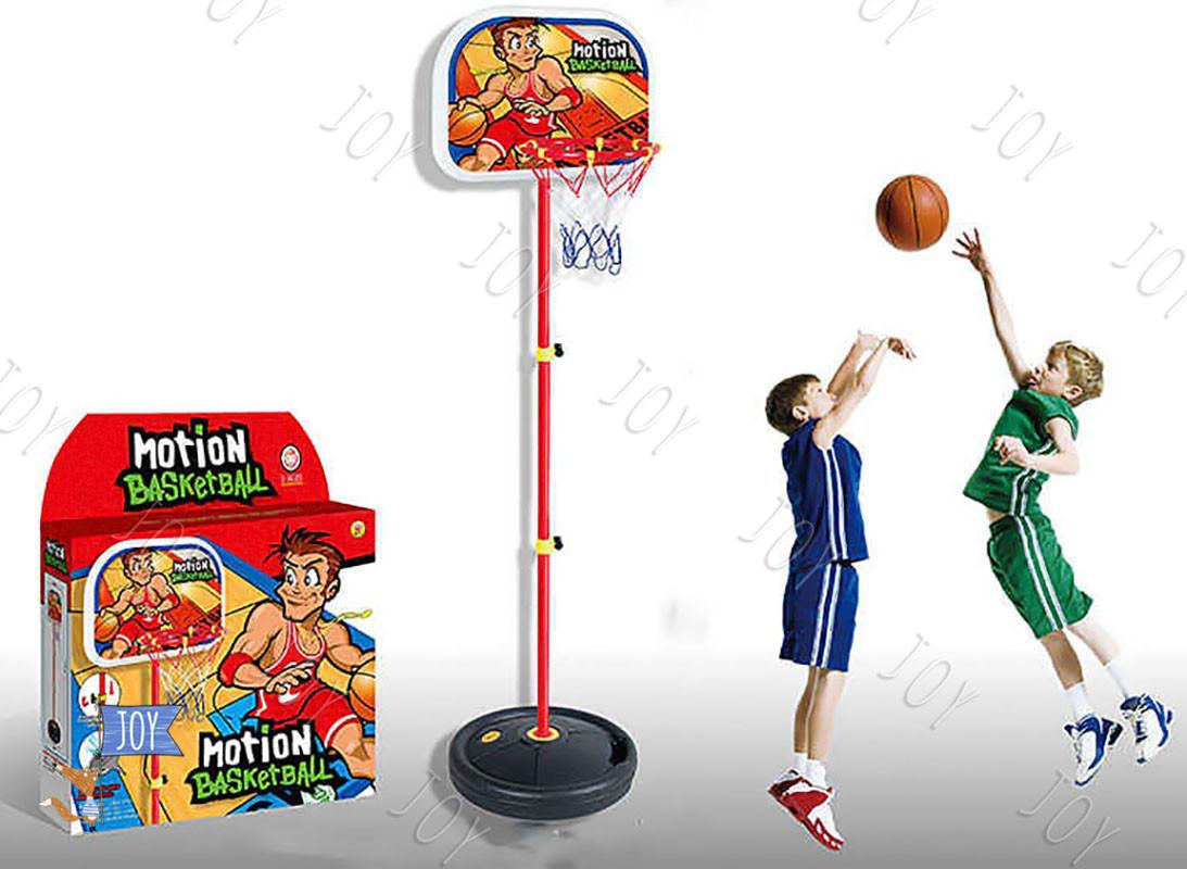 Баскетбольное кольцо на стойке HF 607 (8) высота 140 см, в коробке