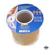 Уплотнитель резиновый Sanok E-тип (коричневый) 9*4мм 150м.