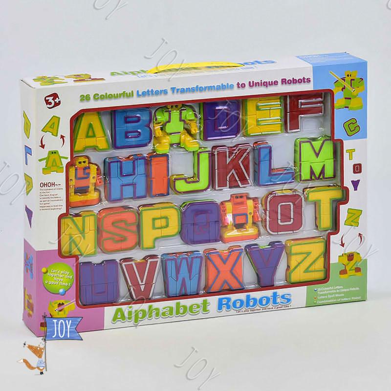 Буквы-трансформеры 500-22 (24) Английский алфавит, в коробке